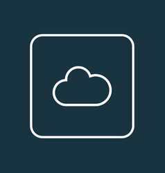 Fog outline symbol premium quality isolated cloud vector
