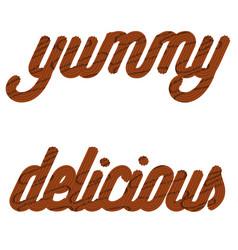 From chocolate cream glazed vector
