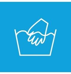 Hand wash icon vector