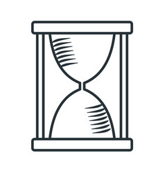 handdraw icon hourglass vector image