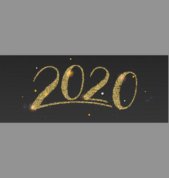 Happy new year wishes for 2020 with abstract vector