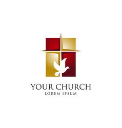 holy church logo sign symbol icon vector image
