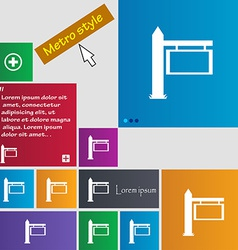 Information Road Sign icon sign Metro style vector