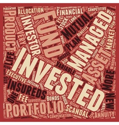 Investment scandals scams what s next text vector