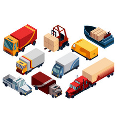 isometric logistics transportation isometric vector image