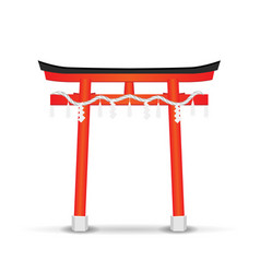 japan style temple gate on a white background vector image