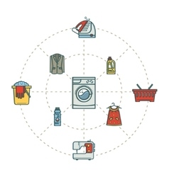 Linear icons cleaning vector
