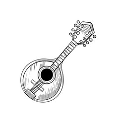 mandolin stylized graphic arts hand drawn vector image