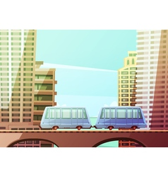 miami suspended monorail vector image