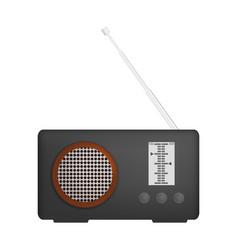 Music radio icon realistic style vector