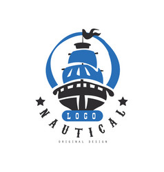 Nautical logo original design retro badge with vector