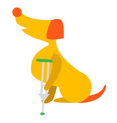 of cute dog or puppy sick dog vector image