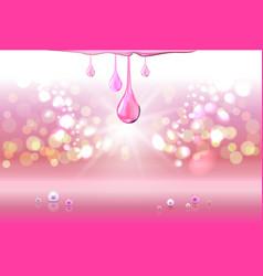 pink perls oil drops green shiny sparkles vector image