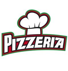 Pizzeria label design vector