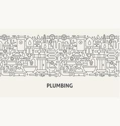 plumbing banner concept vector image