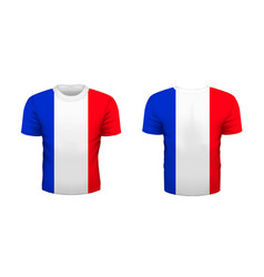 Realistic sport t-shirt with france flag from vector