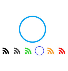 rss rounded icon vector image