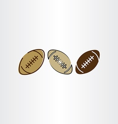 rugball football icon set vector image