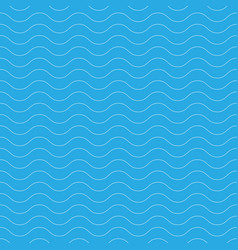 Seamless wavy pattern white thin lines on blue vector