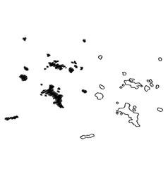 Seychelles map vector
