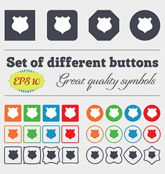 shield icon sign Big set of colorful diverse vector image