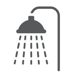 Shower glyph icon real estate and home bath sign vector