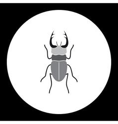 simple black longhorn beetle black icon eps10 vector image