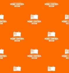 smart building pattern orange vector image
