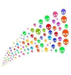 Source stream of skull vector