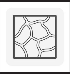 stone floor or floor finishing material icon vector image