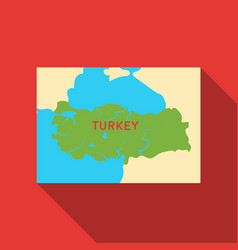 territory of turkey icon in flate style isolated vector image