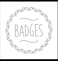 Vintage badges line image vector