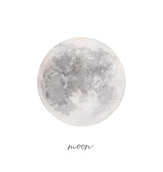 watercolor texture of the full moon hand painted vector image