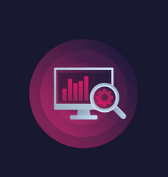 web analytics and seo analysis icon vector image