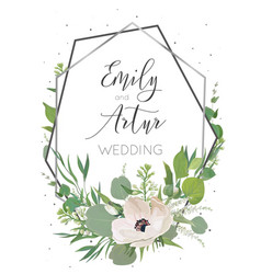 Wedding invitation invite save the date card vector