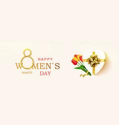 womens day greeting card horizontal banner vector image