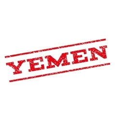 Yemen Watermark Stamp vector