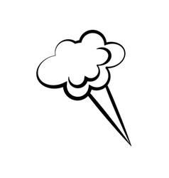 cloud speech comic icon vector image vector image