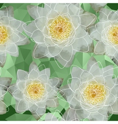 Seamless Water Lilies Background vector image