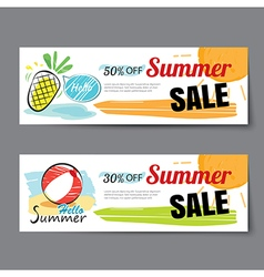 Summer sale voucher templatediscount coupon banner vector