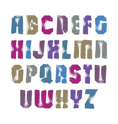 Uppercase calligraphic brush letters hand-painted vector image