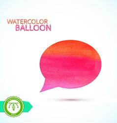 Watercolor Balloon vector image