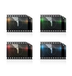 Film strip set vector image vector image