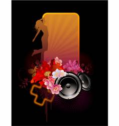 floral music banner vector image vector image
