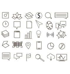 logo collection black and white vector image