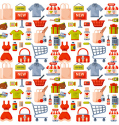 online store shop website clothes and goods vector image vector image