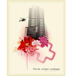 urban florals vector image vector image