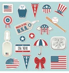 American stickers vector image vector image