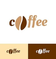 Coffee word logo vector image