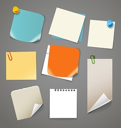 Collectionn of paper stickers vector